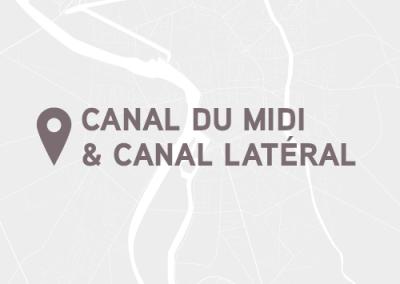 Canal du midi et canal latéral